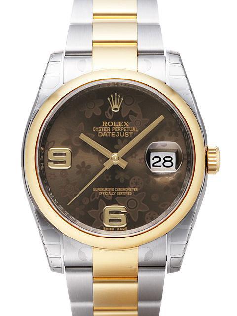 Rolex Datejust 36 Herrklocka 116203-0188 Brun/Stål Ø36 mm - Rolex