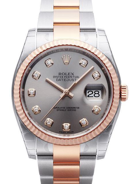 Rolex Datejust 36 Herrklocka 116231-0072 Silverfärgad/Stål Ø36 mm - Rolex