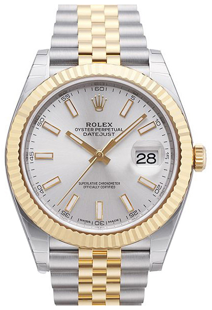Rolex Datejust 41 Herrklocka 126333-0002 Silverfärgad/18 karat gult guld - Rolex