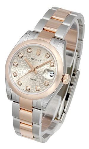 Rolex Datejust 31 Damklocka 178241-0030 Silverfärgad/Stål Ø31 mm - Rolex