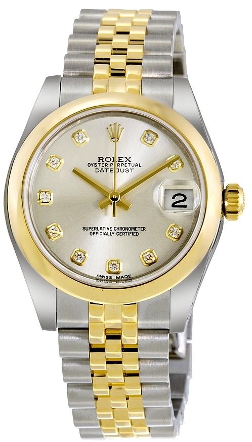 Rolex Datejust 31 Damklocka 178243-0041 Silverfärgad/Stål Ø31 mm - Rolex