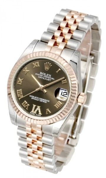 Rolex Datejust Midsize Damklocka 178271-0071 Grön/18 karat roséguld Ø31 - Rolex