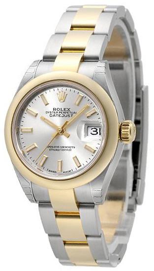 Rolex Lady-Datejust 28 Damklocka 279161-0020 Silverfärgad/18 karat gult - Rolex