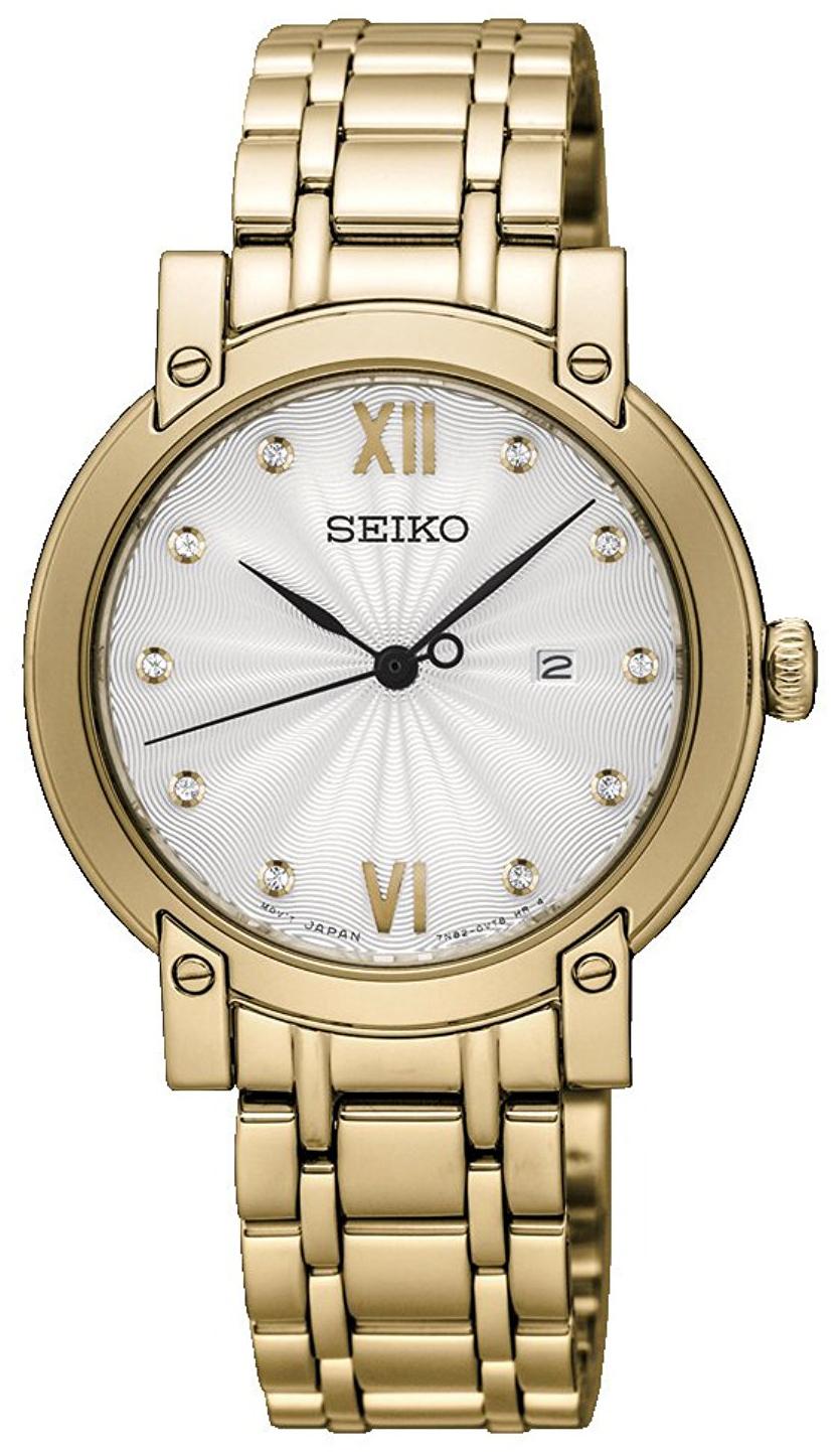 Seiko Dress Ladies Damklocka SXDG80P1 Silverfärgad/Gulguldtonat stål - Seiko