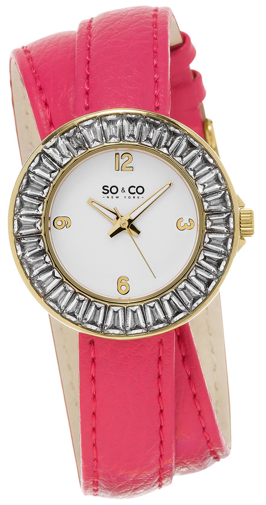 So & Co New York SoHo Damklocka 5070.3 Vit/Läder Ø34 mm - So & Co New York