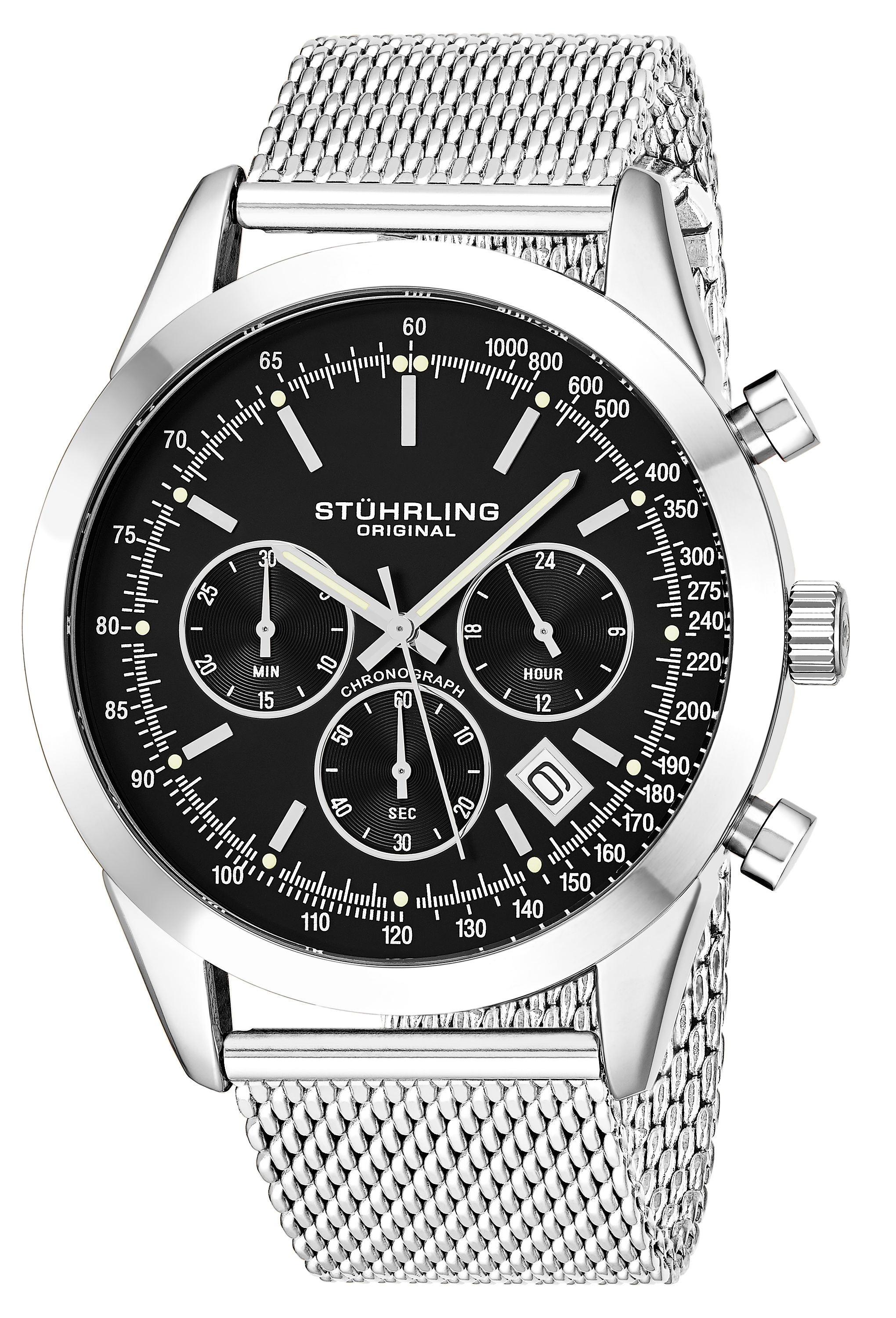 Stührling Original 99999 Herrklocka 3975.1 Svart/Stål Ø42 mm - Stührling Original