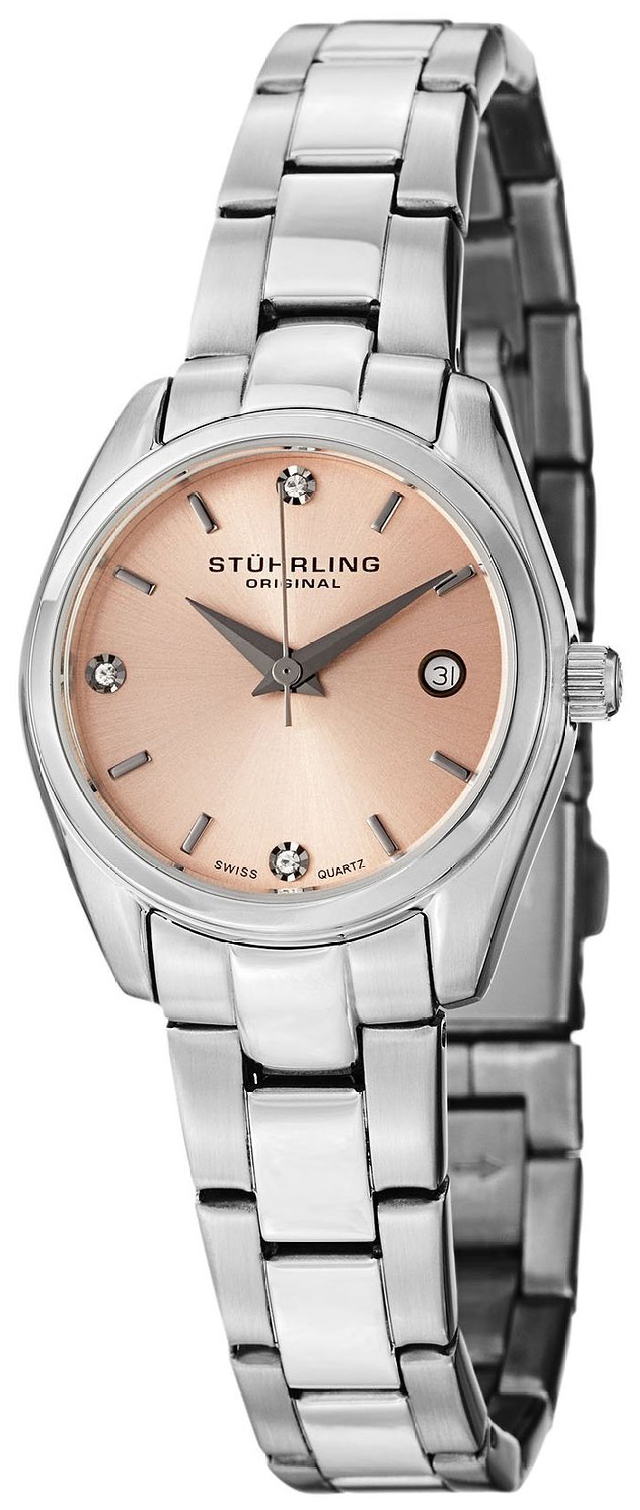 Stührling Original Damklocka 414L.02 Rosa/Stål Ø28 mm - Stührling Original