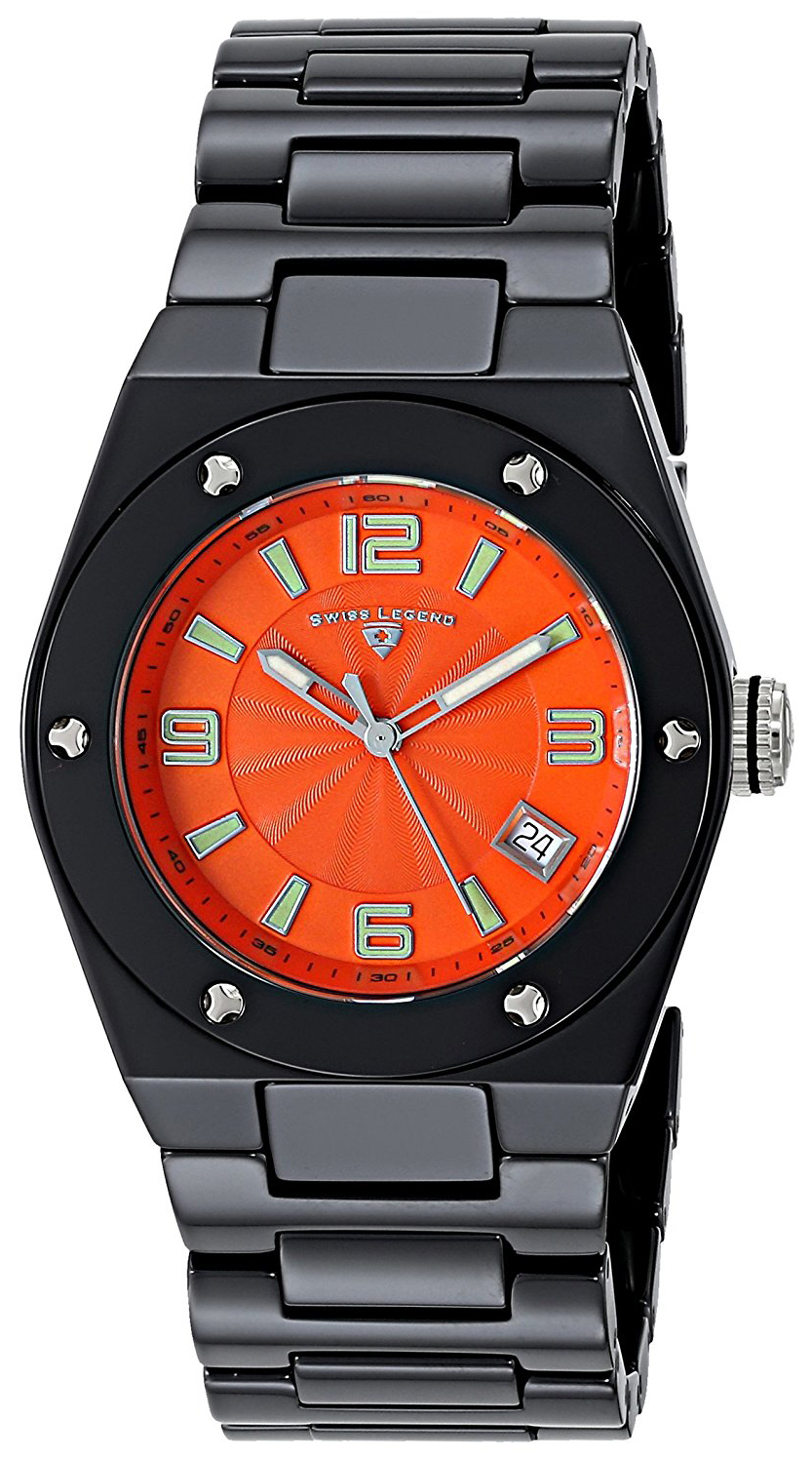 Swiss Legend Throttle Damklocka SL-10054-BKOTSA Orange/Keramik Ø40 mm - Swiss Legend