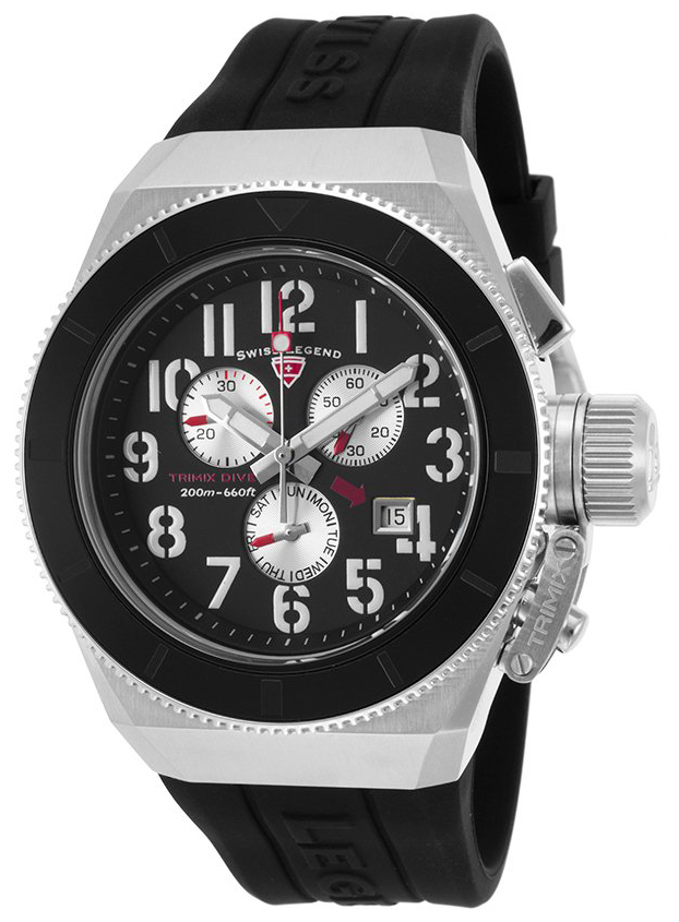 Swiss Legend 99999 Herrklocka SL-13844-01 Svart/Gummi Ø46 mm - Swiss Legend