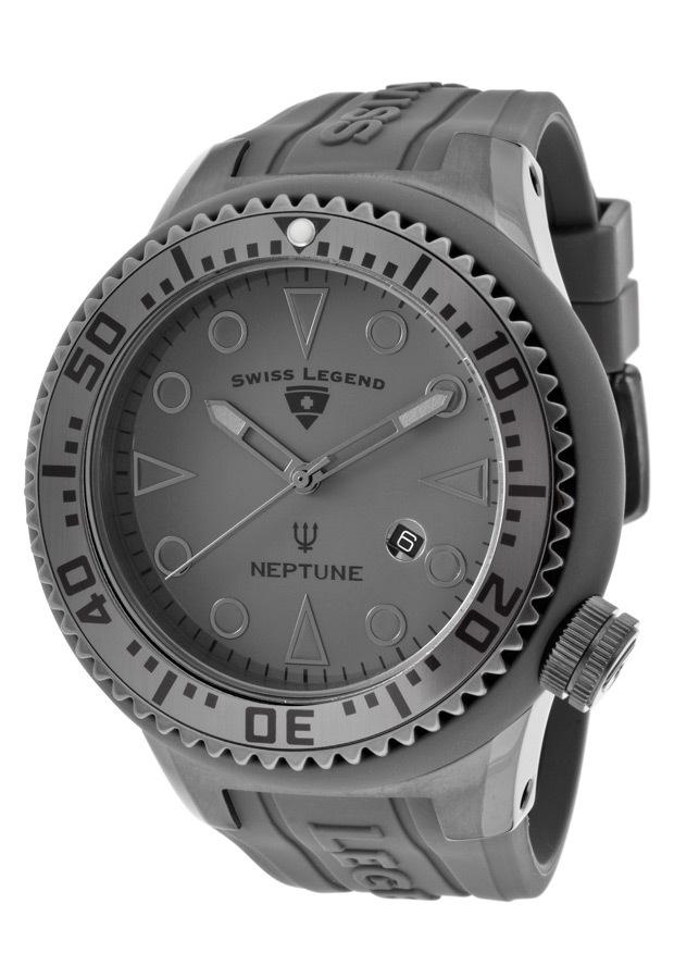 Swiss Legend Neptune Herrklocka SL-21818D-PHT-14 Grå/Gummi Ø52 mm - Swiss Legend