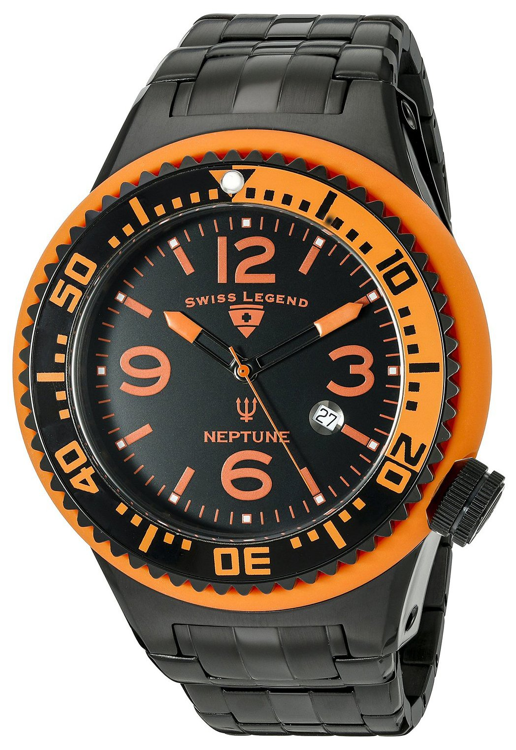 Swiss Legend Neptune Herrklocka SL-21819P-BB-11-OBS Svart/Stål Ø52 mm - Swiss Legend