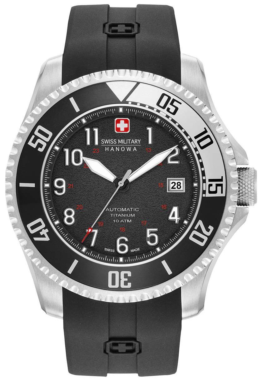 Swiss Military Dress Herrklocka 05-4284.15.007 Svart/Gummi Ø47 mm - Swiss Military