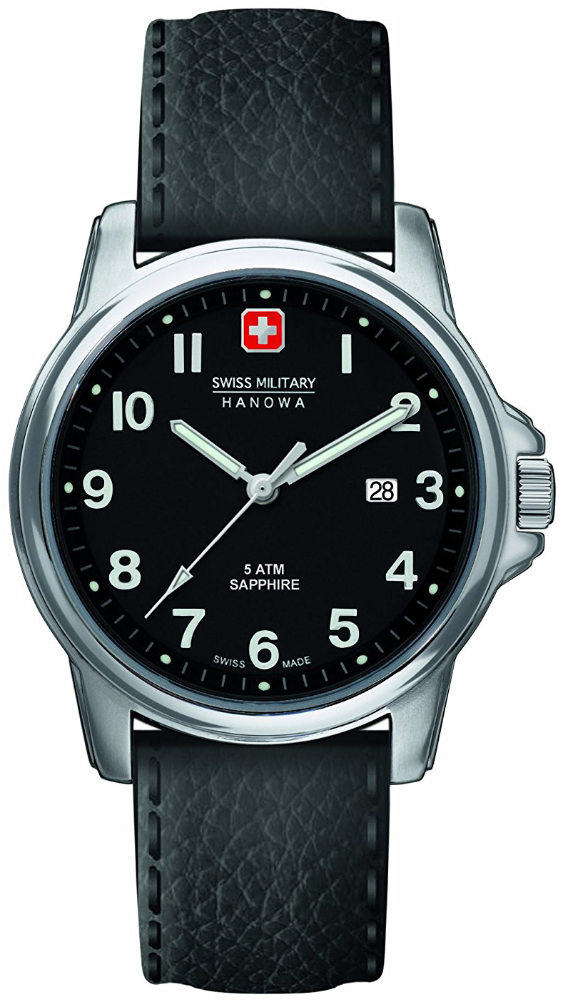 Swiss Military Dress Herrklocka 6-4231.04.007 Svart/Läder Ø39 mm - Swiss Military