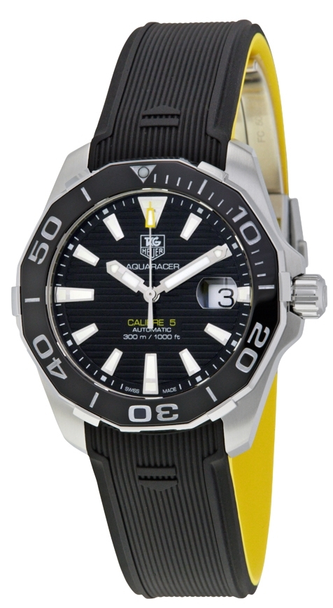TAG Heuer Aquaracer Herrklocka WAY211A.FT6068 Svart/Gummi Ø41 mm - TAG Heuer