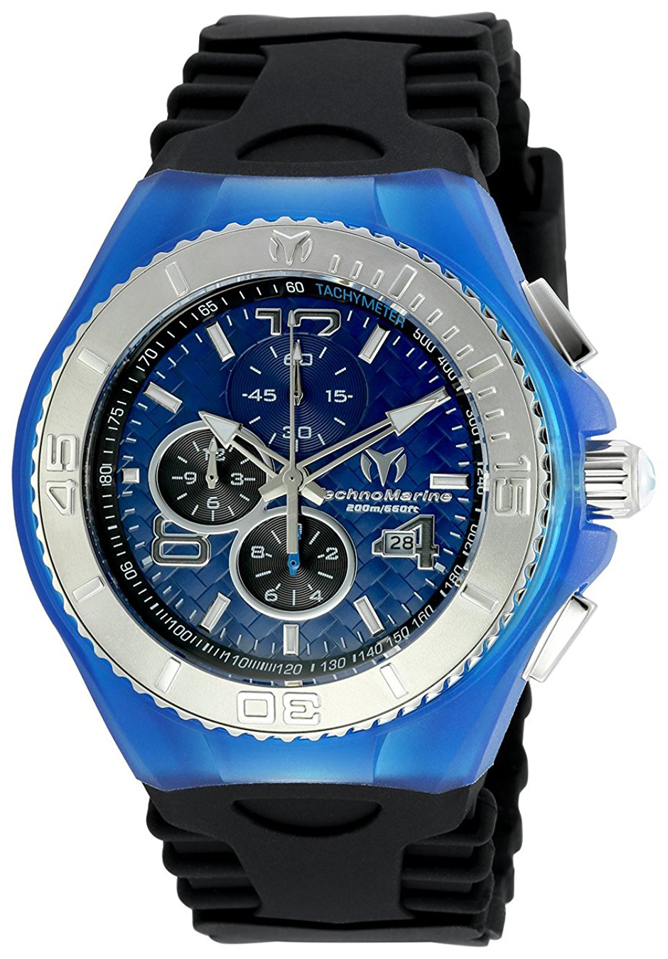 Technomarine Cruise Jellyfish Herrklocka TM-115114 Blå/Gummi Ø46 mm - Technomarine