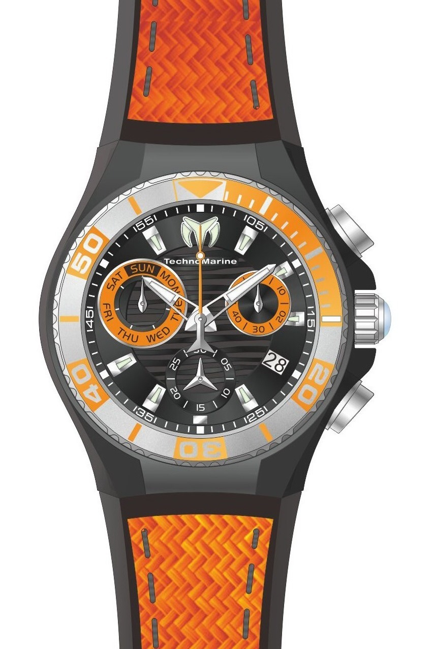 Technomarine Cruise Quartz Herrklocka TM-115178 Svart/Gummi Ø45 mm - Technomarine