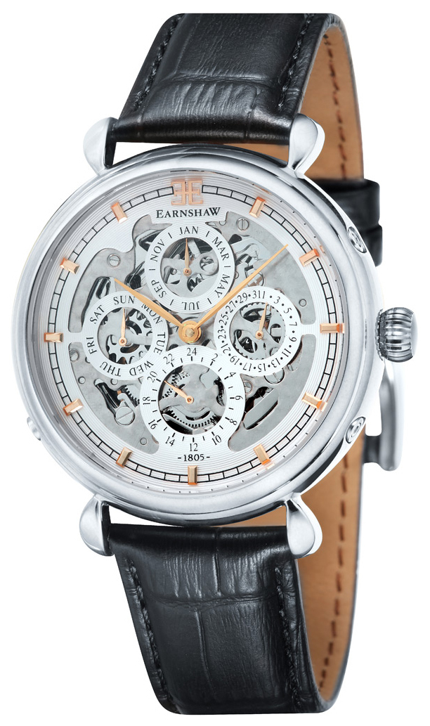 Thomas Earnshaw Grand Calendar Herrklocka ES-8043-02 Vit/Läder Ø41 mm - Thomas Earnshaw