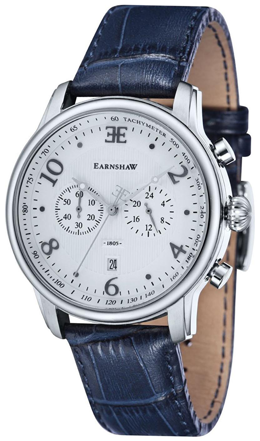 Thomas Earnshaw Longitude Herrklocka ES-8058-01 Silverfärgad/Läder Ø44 - Thomas Earnshaw