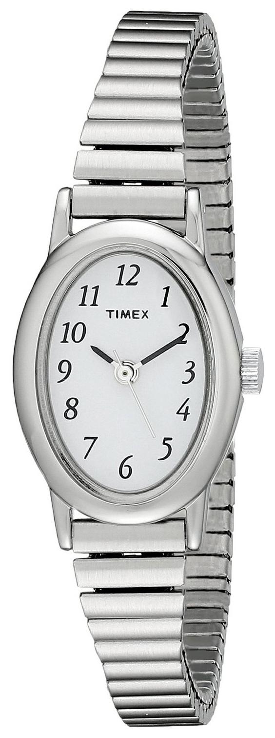 Timex Classic Damklocka T21902 Vit/Stål Ø19 mm - Timex