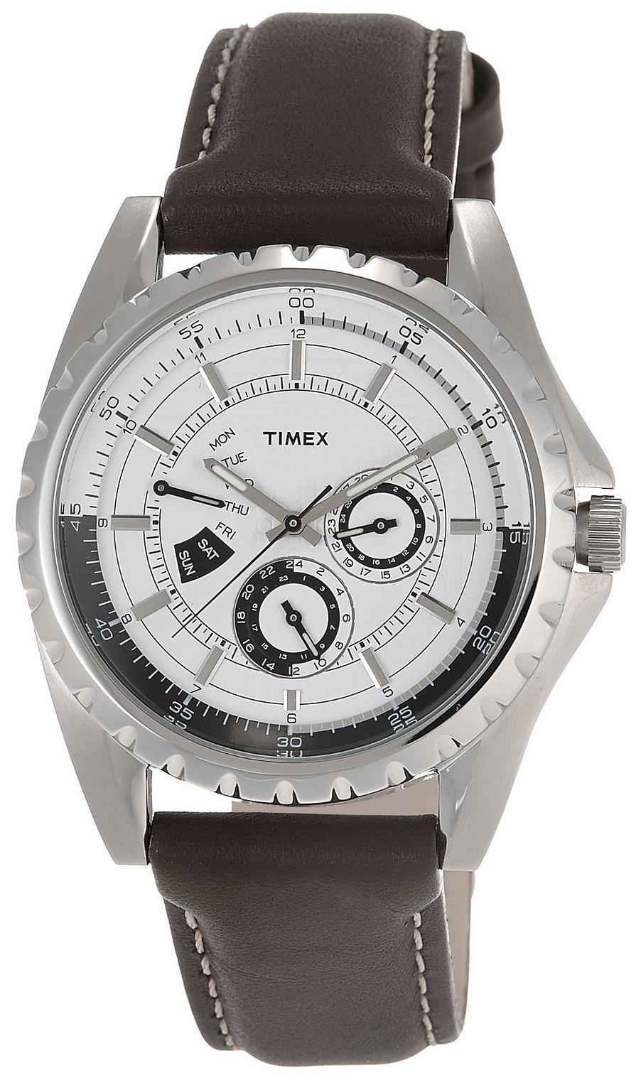 Timex Herrklocka T2M429 Vit/Läder Ø44 mm - Timex