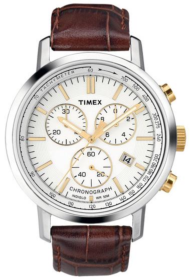 Timex Herrklocka T2N560 Vit/Läder Ø45 mm - Timex