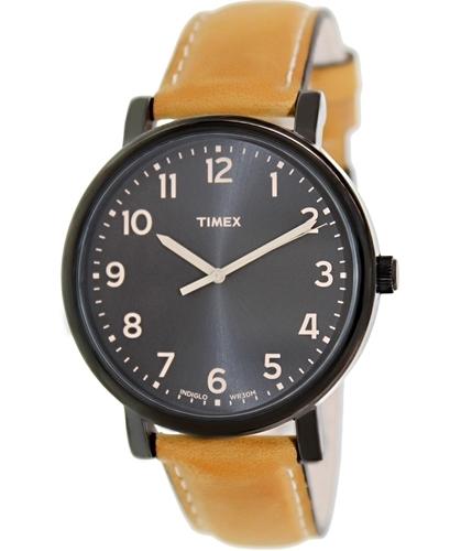Timex Herrklocka T2N677 Svart/Läder Ø42 mm - Timex