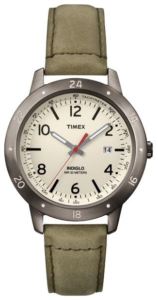 Timex Weekender Herrklocka T2N898 Antikvit/Läder Ø40 mm - Timex