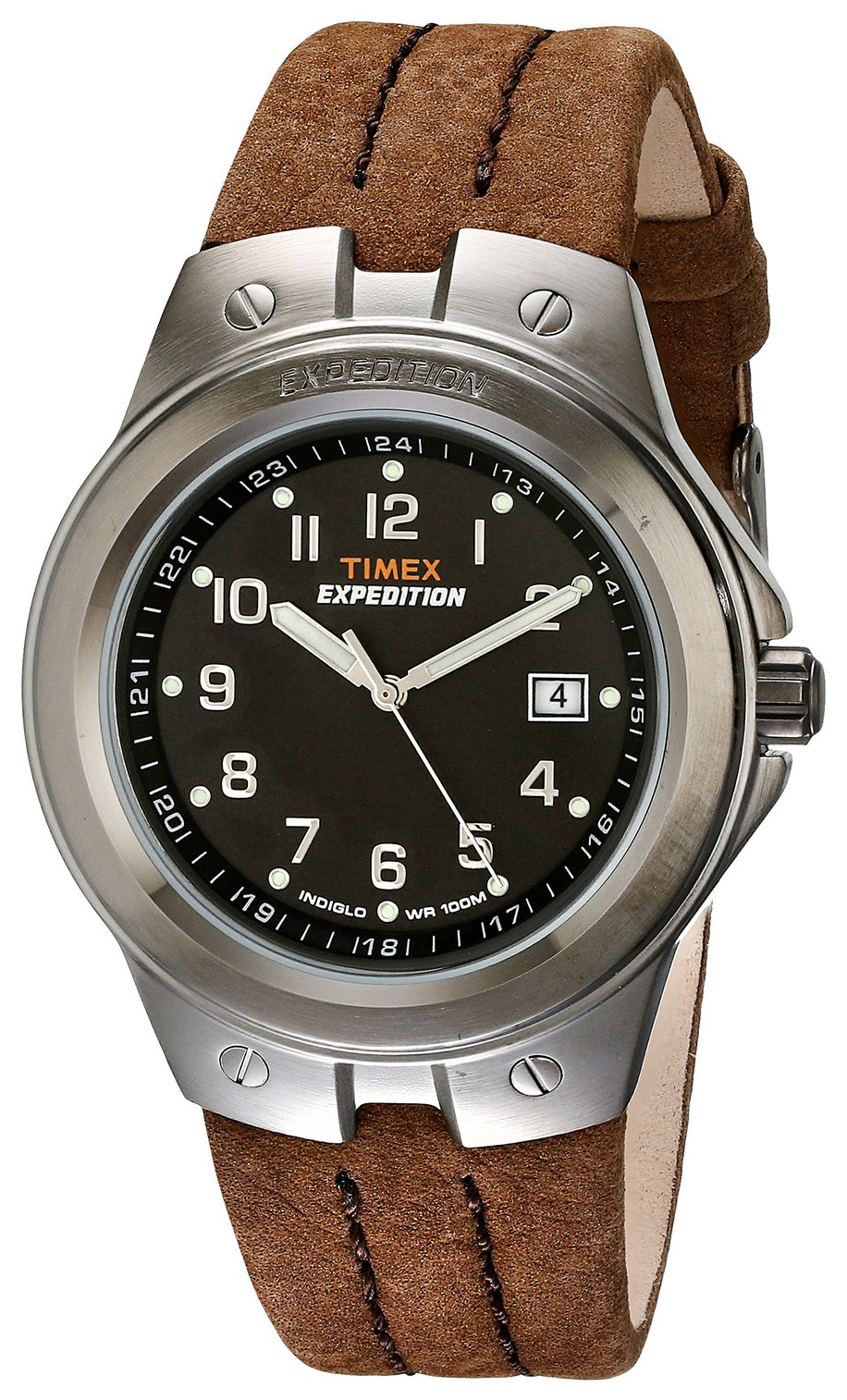 Timex Expedition Herrklocka T49631 Svart/Läder Ø40 mm - Timex