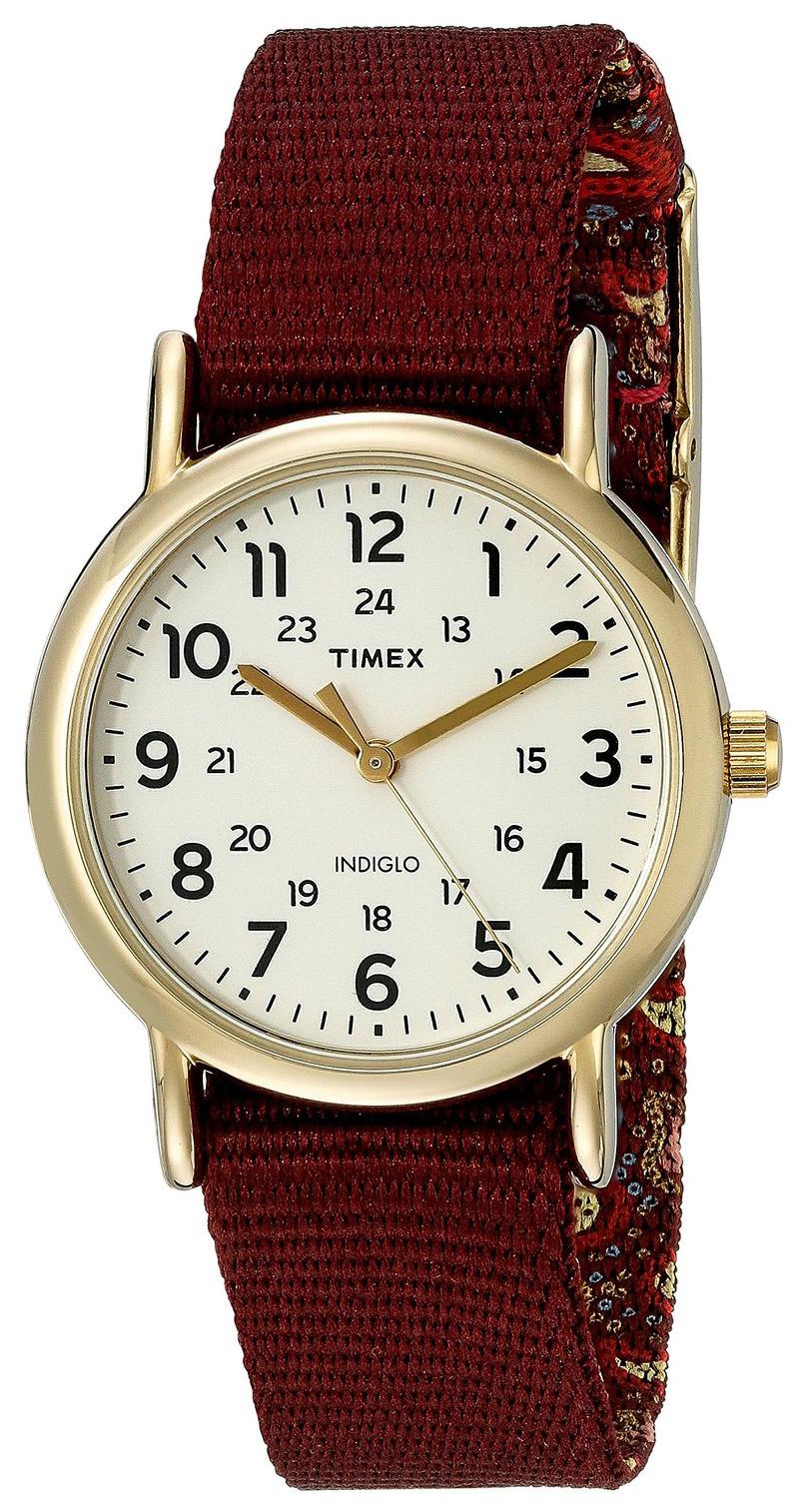 Timex Weekender Damklocka TW2P741009J Beige/Textil Ø31 mm - Timex