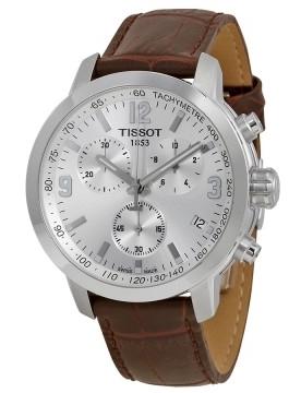 Tissot Seastar 1000 Herrklocka T055.417.16.037.00 Silverfärgad/Läder - Tissot