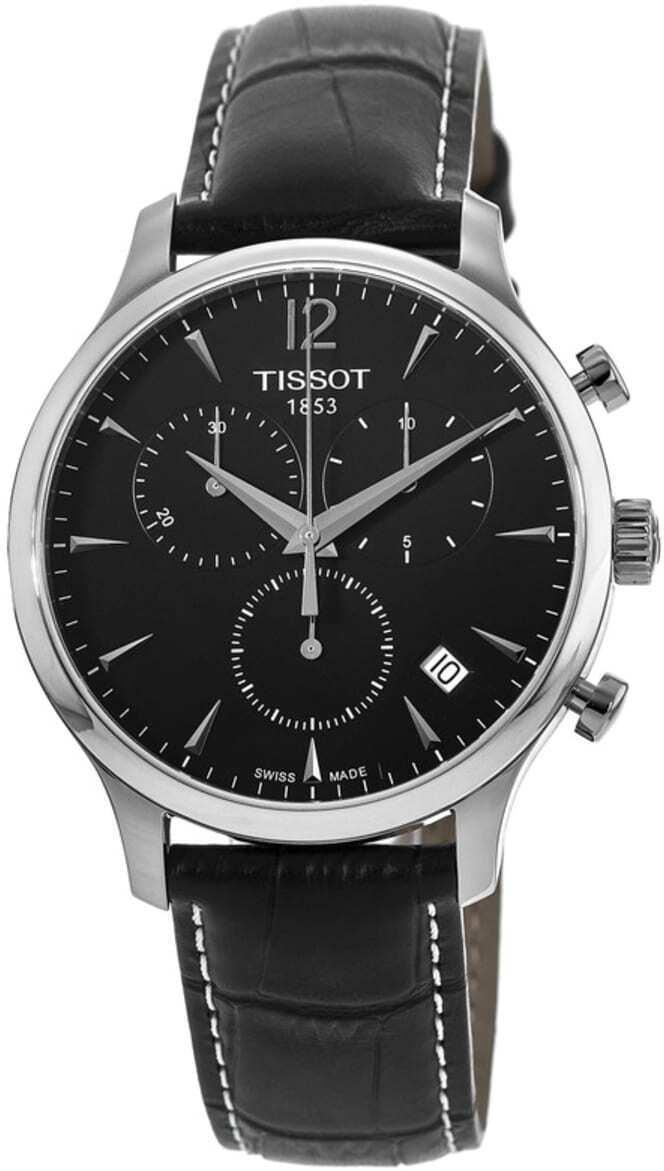 Tissot Tradition Herrklocka T063.617.16.057.00 Svart/Läder Ø42 mm - Tissot