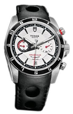 Tudor Grantour Chrono Fly-Back Herrklocka 20550N-WIDBLS Vit/Läder Ø42 mm - Tudor