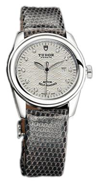 Tudor Glamour Date Damklocka 53000-SDIDGLZSP Silverfärgad/Läder Ø31 mm