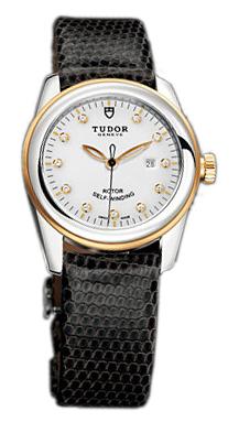 Tudor Glamour Date Damklocka 53003-WDIDBLZS Vit/Läder Ø31 mm - Tudor