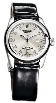 Tudor Glamour Date Damklocka 53010N-SDIDBPLS Silverfärgad/Läder Ø31 mm - Tudor