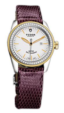 Tudor Glamour Date Damklocka 53023-WIDPRLZS Vit/Läder Ø31 mm - Tudor