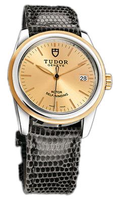 Tudor Glamour Date 55003-CHIDGLZS Champagnefärgad/Läder Ø36 mm