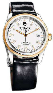 Tudor Glamour Date 55003-WDIDBPLS Vit/Läder Ø36 mm - Tudor