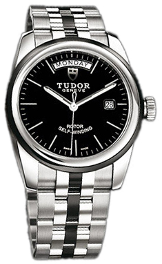 Tudor Glamour Day-Date Herrklocka 56010N-68060N-BIDSTL Svart/Keramik Ø39 - Tudor