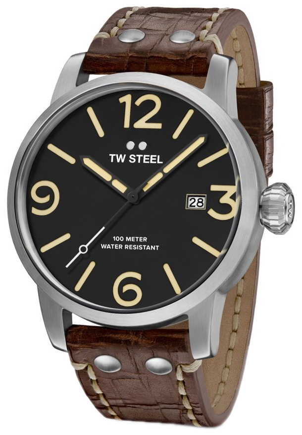 TW Steel Maverick Herrklocka MS1 Svart/Läder Ø45 mm - TW Steel