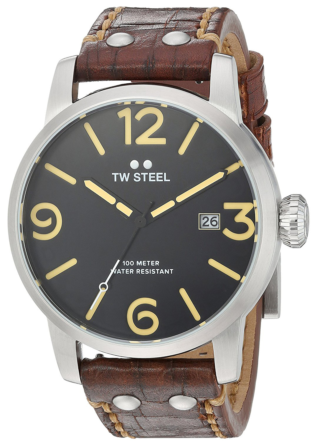 TW Steel Maverick Herrklocka MS2 Svart/Läder Ø48 mm - TW Steel