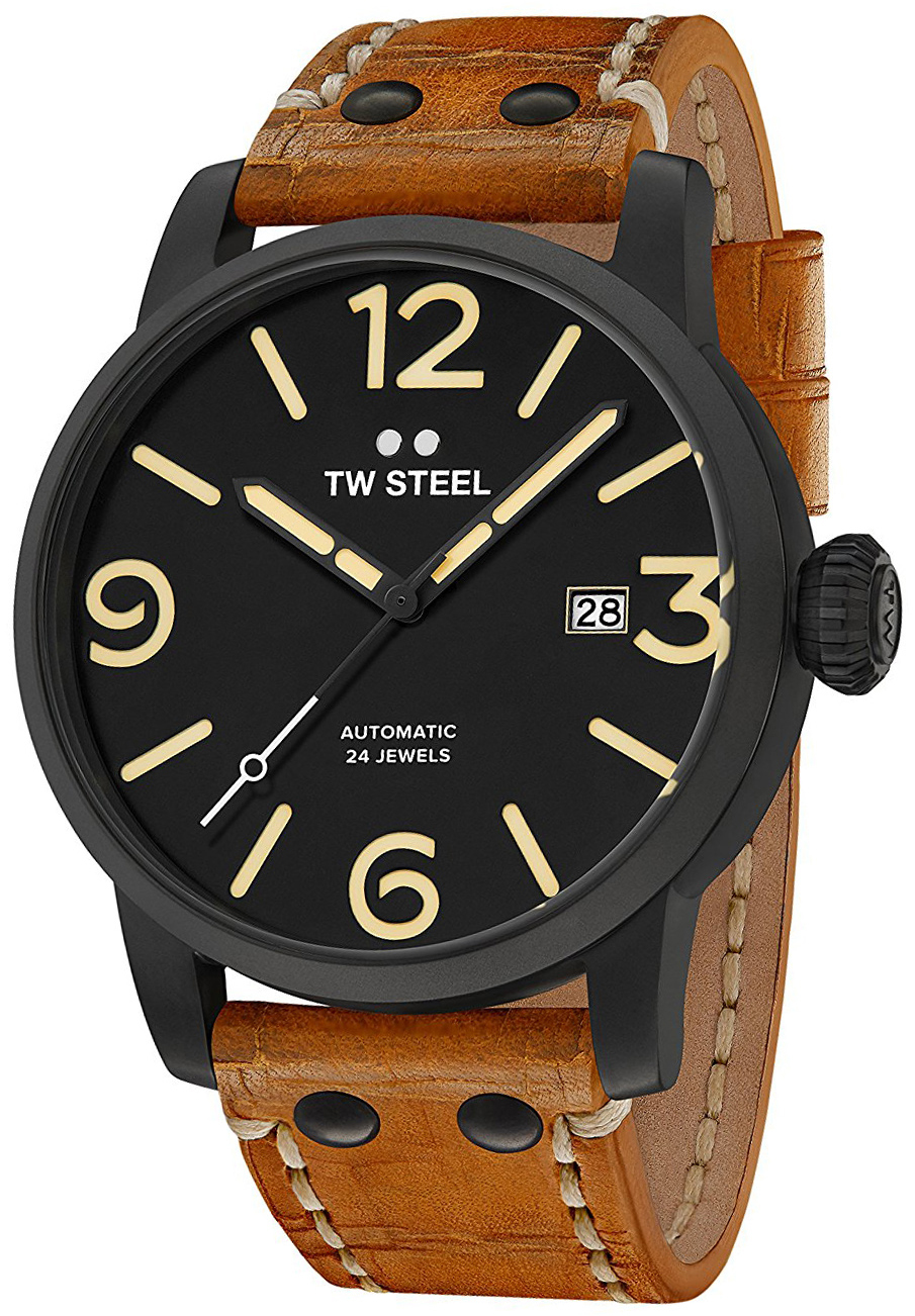 TW Steel Maverick Herrklocka MS35 Svart/Läder Ø45 mm - TW Steel