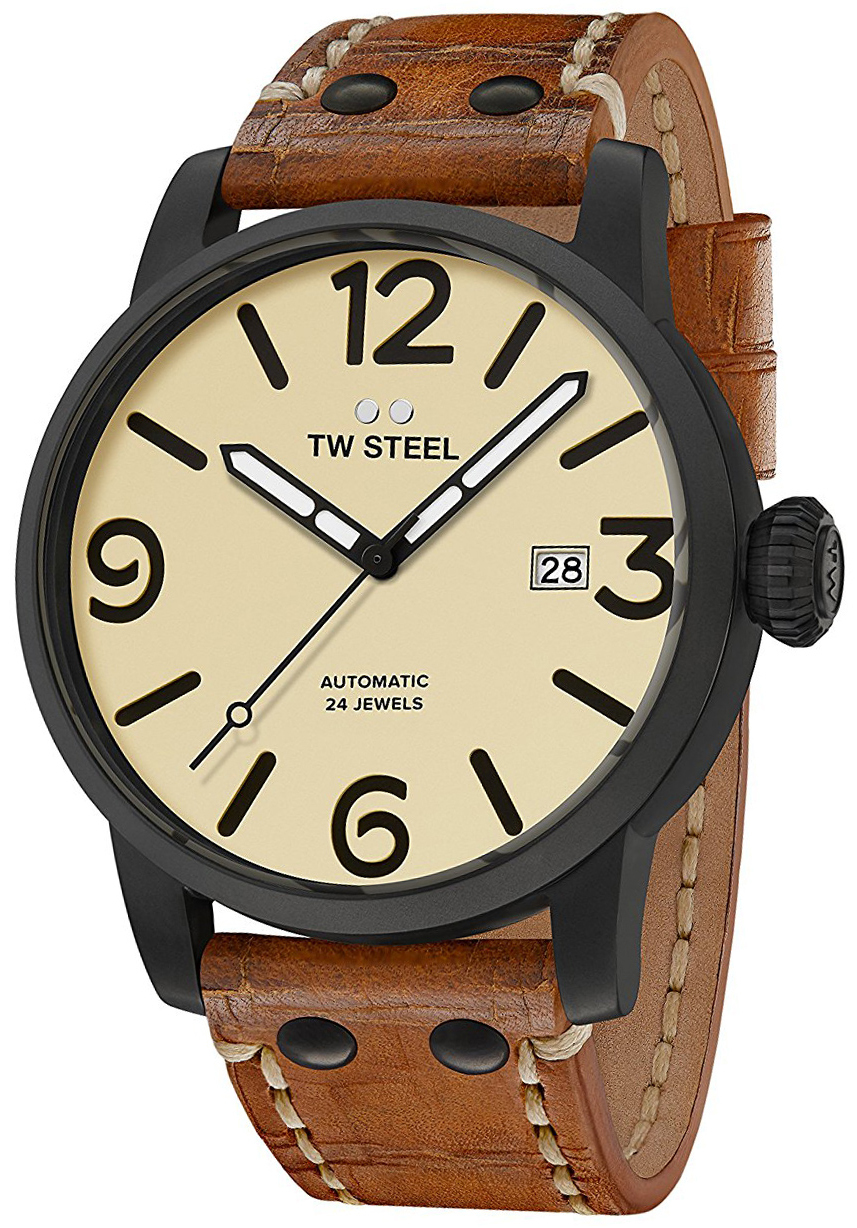 TW Steel Maverick Herrklocka MS45 Antikvit/Läder Ø45 mm - TW Steel