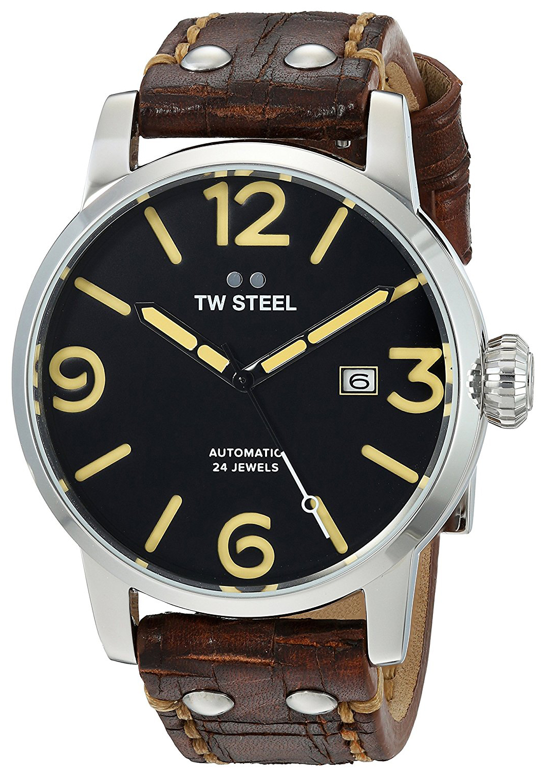 TW Steel Maverick Herrklocka MS5 Svart/Läder Ø45 mm - TW Steel
