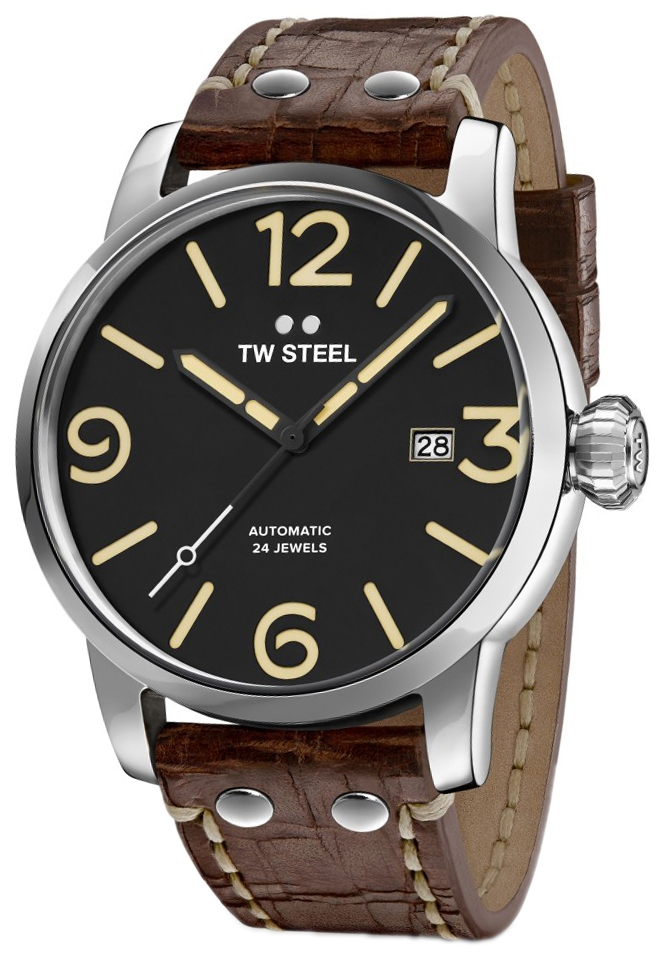TW Steel Maverick Herrklocka MS6 Svart/Läder Ø48 mm - TW Steel