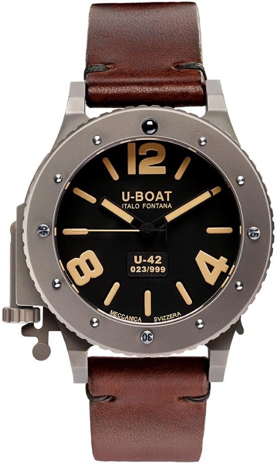 U-Boat U-42 Herrklocka 6471 Svart/Läder Ø47 mm - U-Boat
