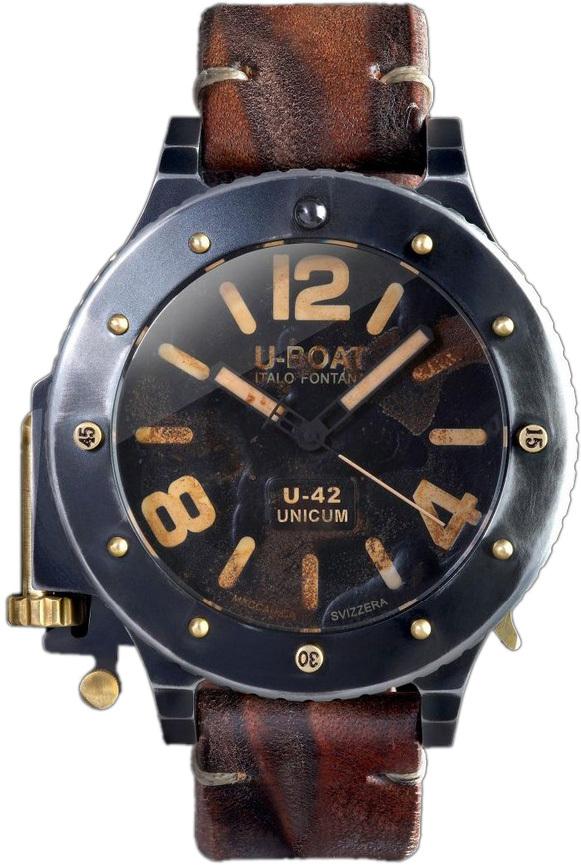 U-Boat U-42 Herrklocka 8088 Svart/Läder Ø53 mm - U-Boat
