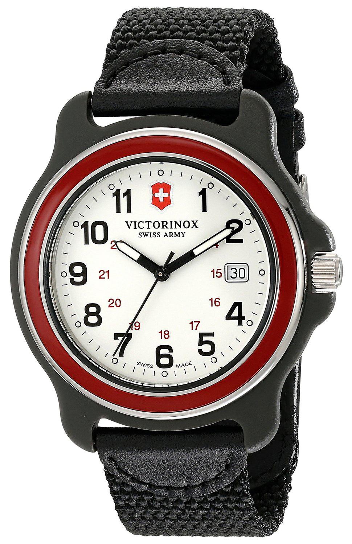 Victorinox 99999 Herrklocka 249085 Vit/Textil Ø43 mm - Victorinox