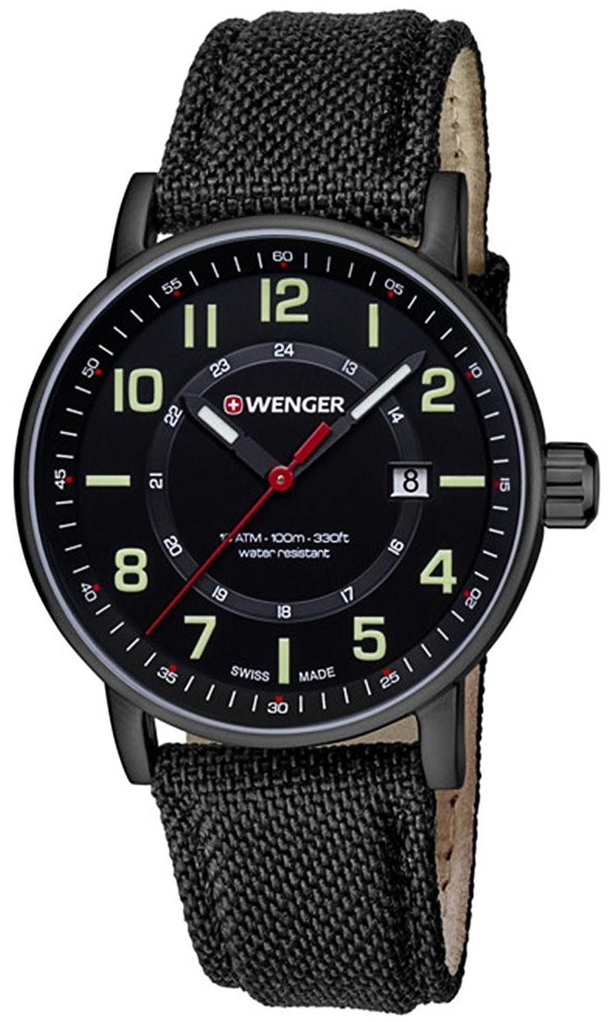 Wenger 99999 Herrklocka 01.0341.111 Svart/Textil Ø43 mm - Wenger