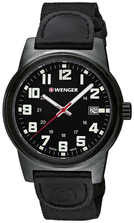 Wenger 99999 Herrklocka 01.0441.140 Svart/Textil Ø41 mm - Wenger